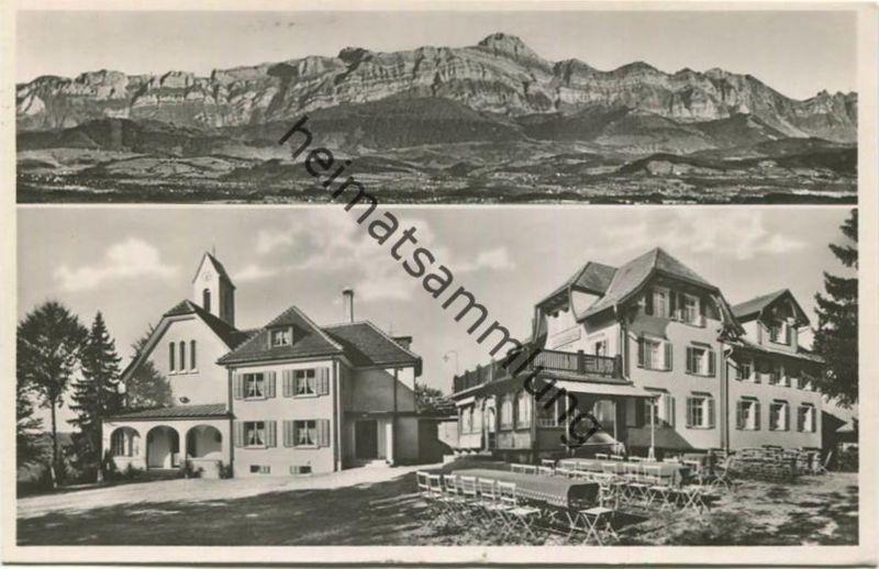St. Iddaburg bei Gähwil - die alte Toggenburg - Foto-AK - Verlag Photoglob-Wehrli Zürich gel. 1937