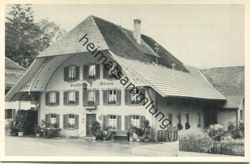 Eriswil - Gasthof zum Bären - Familie M. Huber-Gygax - Foto-AK - Verlag Kohler Bern