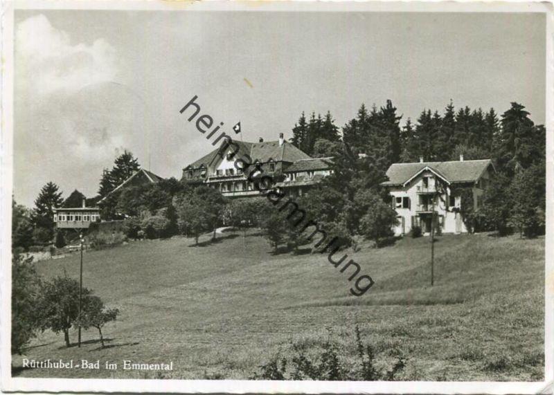 Rüttihubel Bad im Emmental - Foto-AK Grossformat - Verlag Hugo Kopp Zürich - gel. 1959