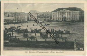 Mitau - Vom östlichen Kriegsschauplatz - der Markt - K. D. Feldpostexped. des Oberkommandos der 8.Armee 6.8.1916