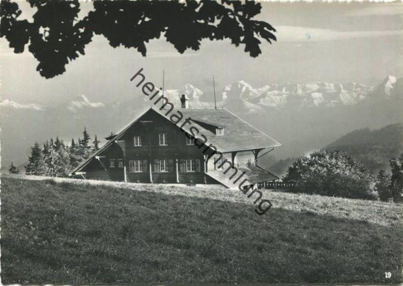 Rüti bei Riggisberg - Ferienheim Gibelegg - Foto-AK Grossformat - Verlag Ad. Gmünder Aarburg (E29977) gel. 1963