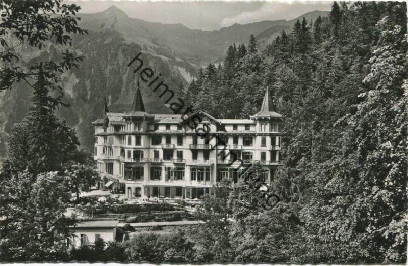 Brienz - Park-Hotel Giessbach - Foto-AK - Verlag H. C. Maeder Brienz gel. 1952