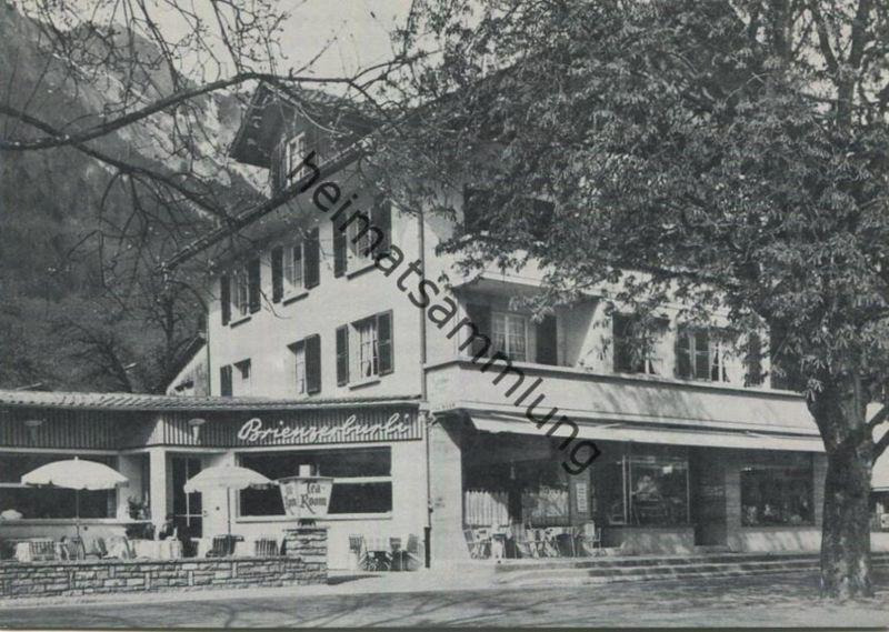 Brienz - Hotel Restaurant Brienzerburli - AK Grossformat - Inhaber E. und P. Huggler - Verlag F. Thomann Brienz