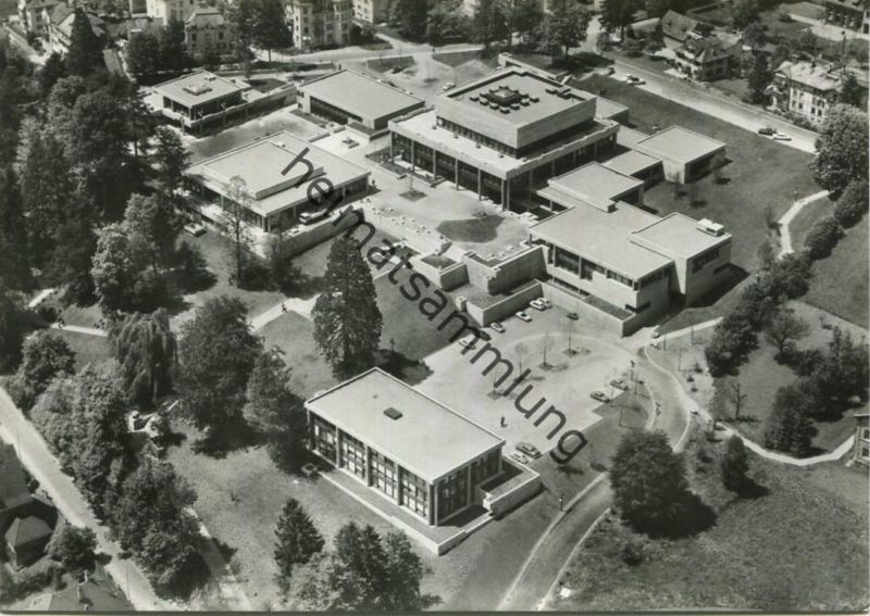 St. Gallen - Hochschule für Wirtschafts- und Sozialwissenschaften - Flugaufnahme - Foto-AK Grossformat - Verlag Foto-Gro