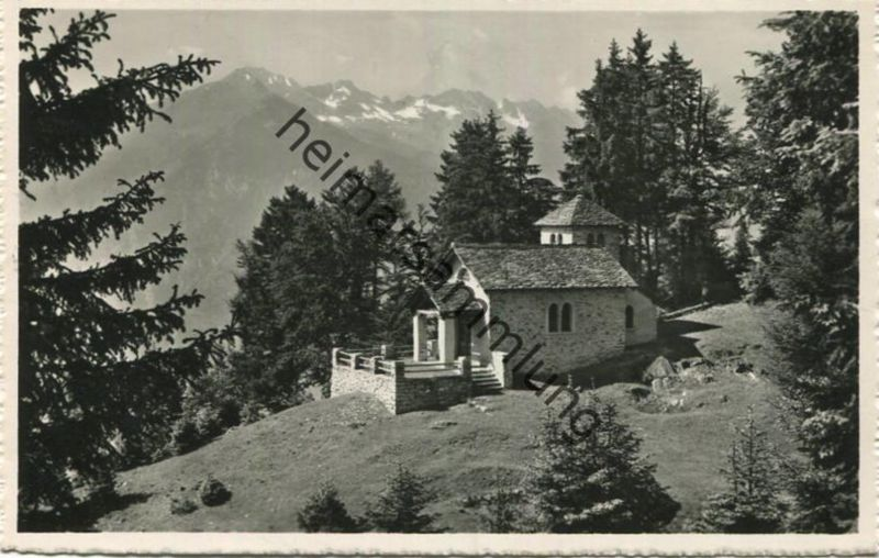 Laura - La Chiesetta - Foto-AK - Verlag A. & W. Borelli Airolo gel. 1948