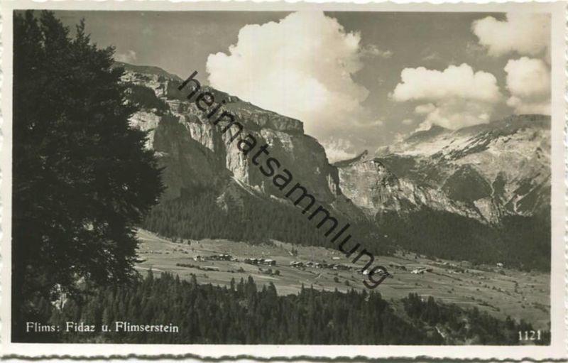 Flims - Fidaz und Flimserstein - Foto-AK - Verlag Julius Geiger Waldhaus-Flims