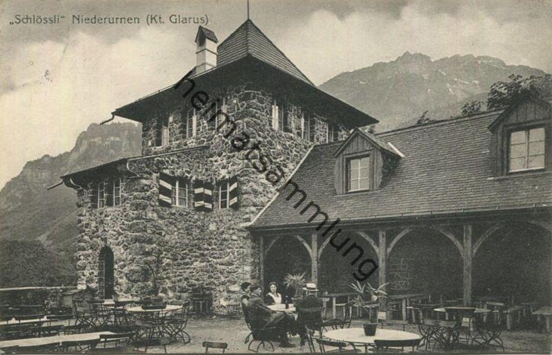 Niederurnen - Schlössli - Verlag Schönwetter-Elmer Glarus gel. 1919