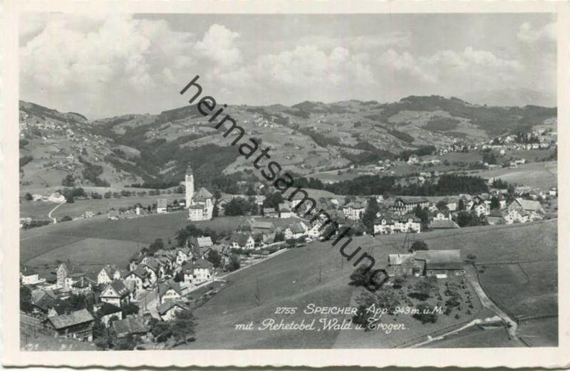 Speicher mit Rehetobel - Wald und Trogen - Foto-AK - Verlag Josef Fischer St. Gallen gel. 1969