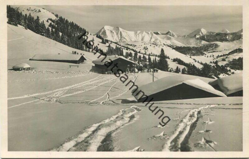 Skihütte auf dem Hornberg - Foto-AK - Verlag Wehrli Kilchberg - gel.