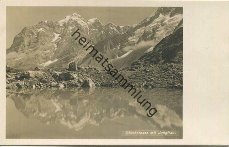 Oberhornsee mit Jungfrau - Foto-AK - Verlag W. Hefti Zürich