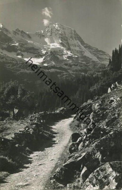 Bei Trachsellauenen - Lauterbrunner Breithorn - Foto-AK - Verlag Gyger Adelboden