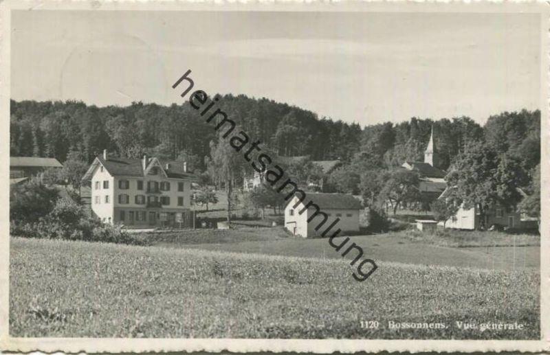 Bossonnens - Vue generale - Foto-AK - Edition Paul Savigny Lucerne 1939 gel. 1943