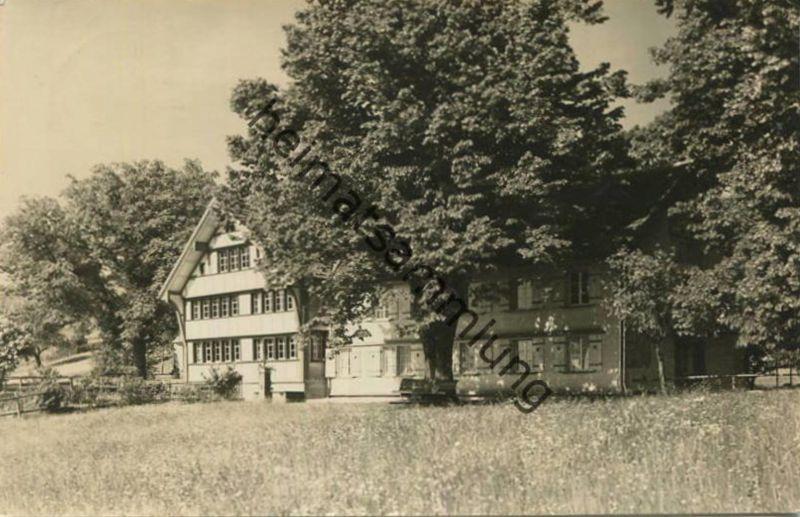 Heiden - Ferienhaus Benzenrüti - Foto-AK - Verlag Hausamann Heiden gel. 1940
