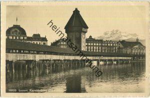 Luzern - Kapellbrücke und Pilatus - Verlag Wehrli AG Kilchberg