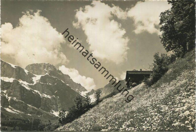 Engelberg - Landschaft am Bergli - Foto-AK - Verlag K. Meuser Engelberg gel. 1959