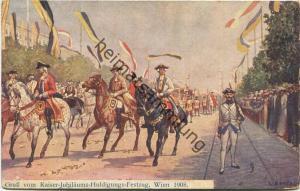 Wien - Kaiser Jubiläums Huldigungs-Festzug 1908 - Künstlerkarte C. Benesch gel. 1908