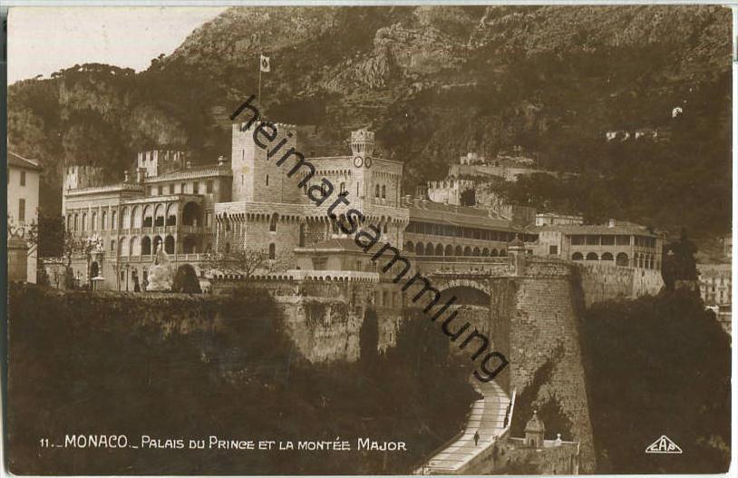 Monaco - Palais du Prince et la Montee Major - Foto-Ansichtskarte