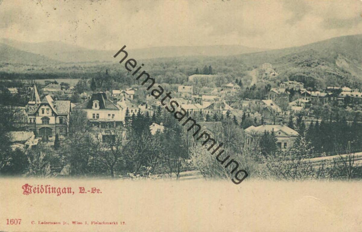 Weidlingau - Verlag C. Ledermann Wien gel. 1900 0
