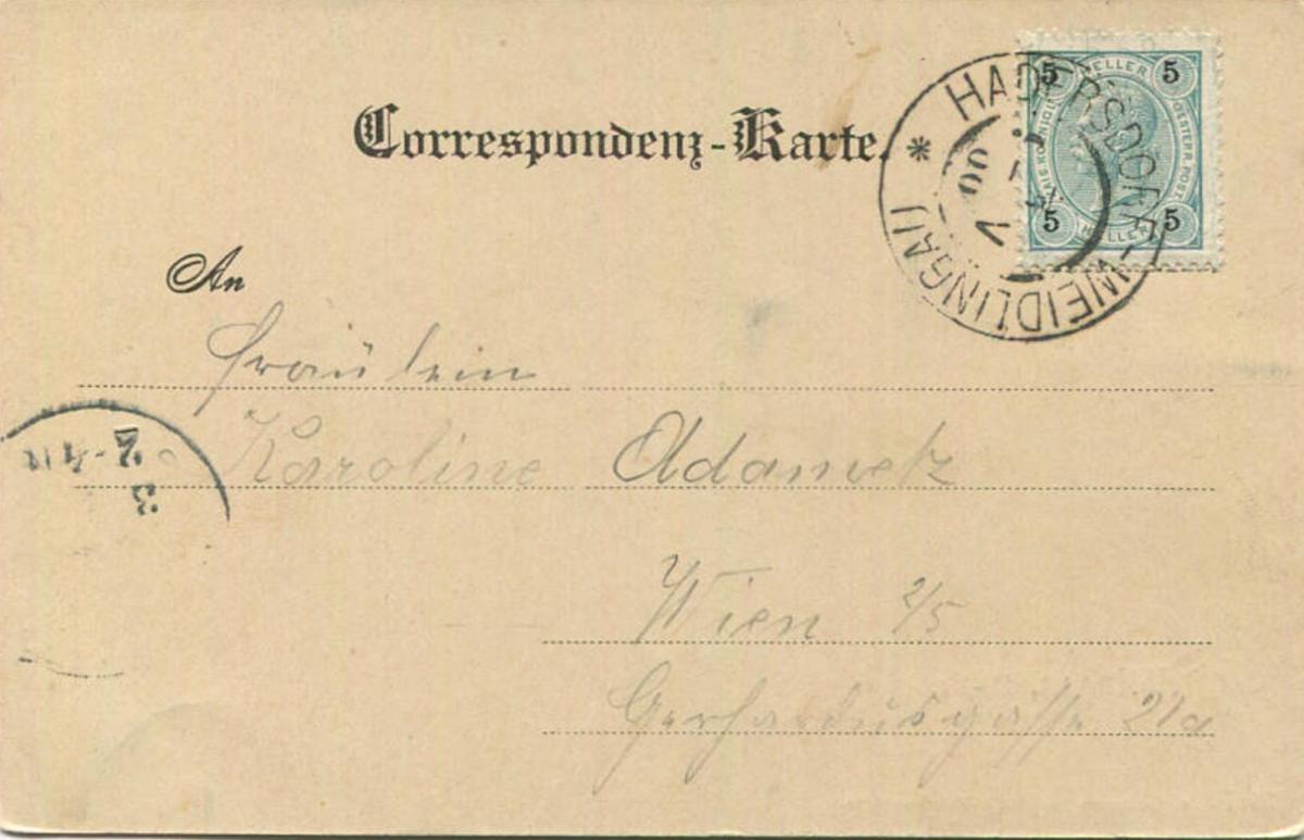 Weidlingau - Verlag C. Ledermann Wien gel. 1900 1