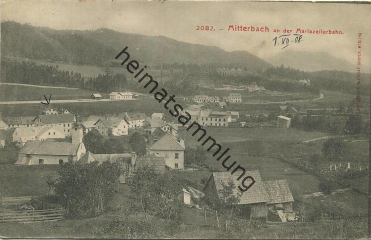 Mitterbach - Verlag C. Weingartshofer Mödling gel. 1908 0