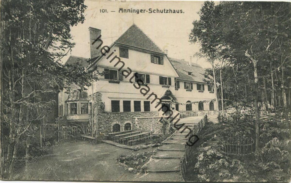 Mödling - Anninger Schutzhaus - Verein der Naturfreunde - Verlag C. Weingartshofer Mödling gel. 1915 0
