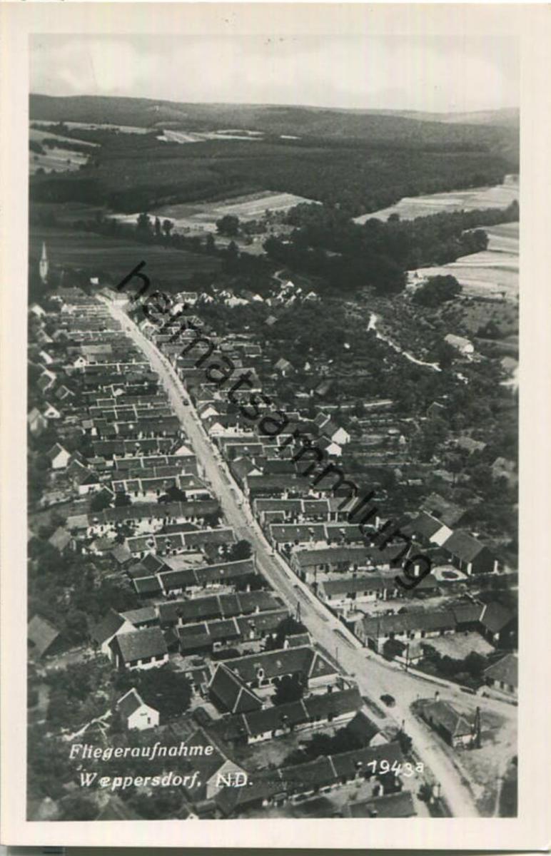 Weppersdorf - Fliegeraufnahme - Burgenland - Foto-Ansichtskarte
