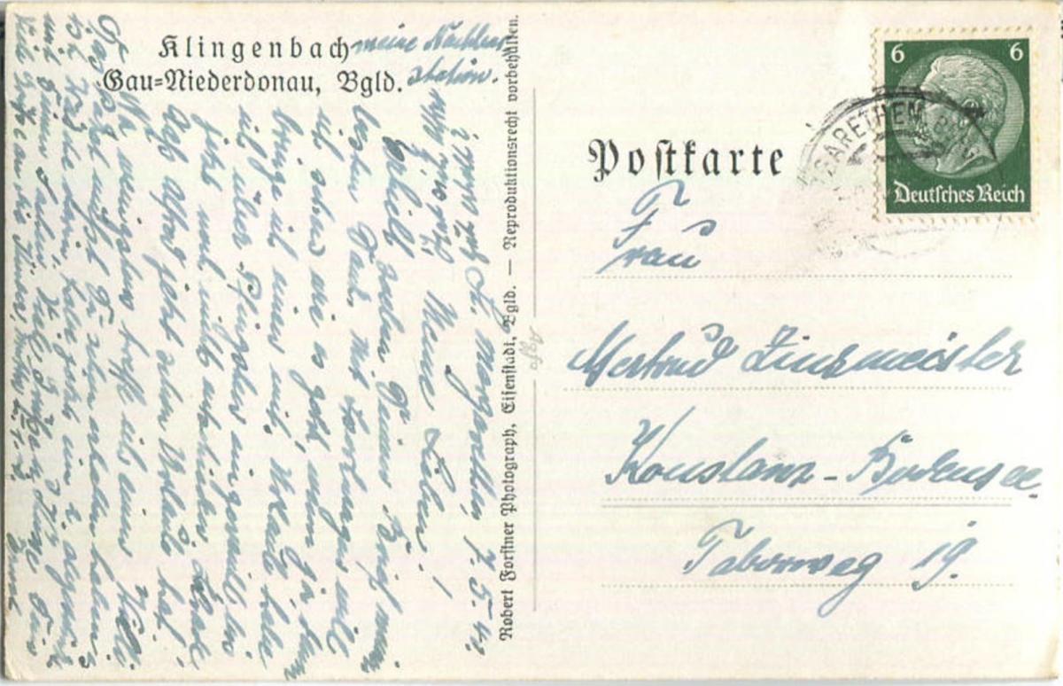Klingenbach - Burgenland - Foto-Ansichtskarte 1