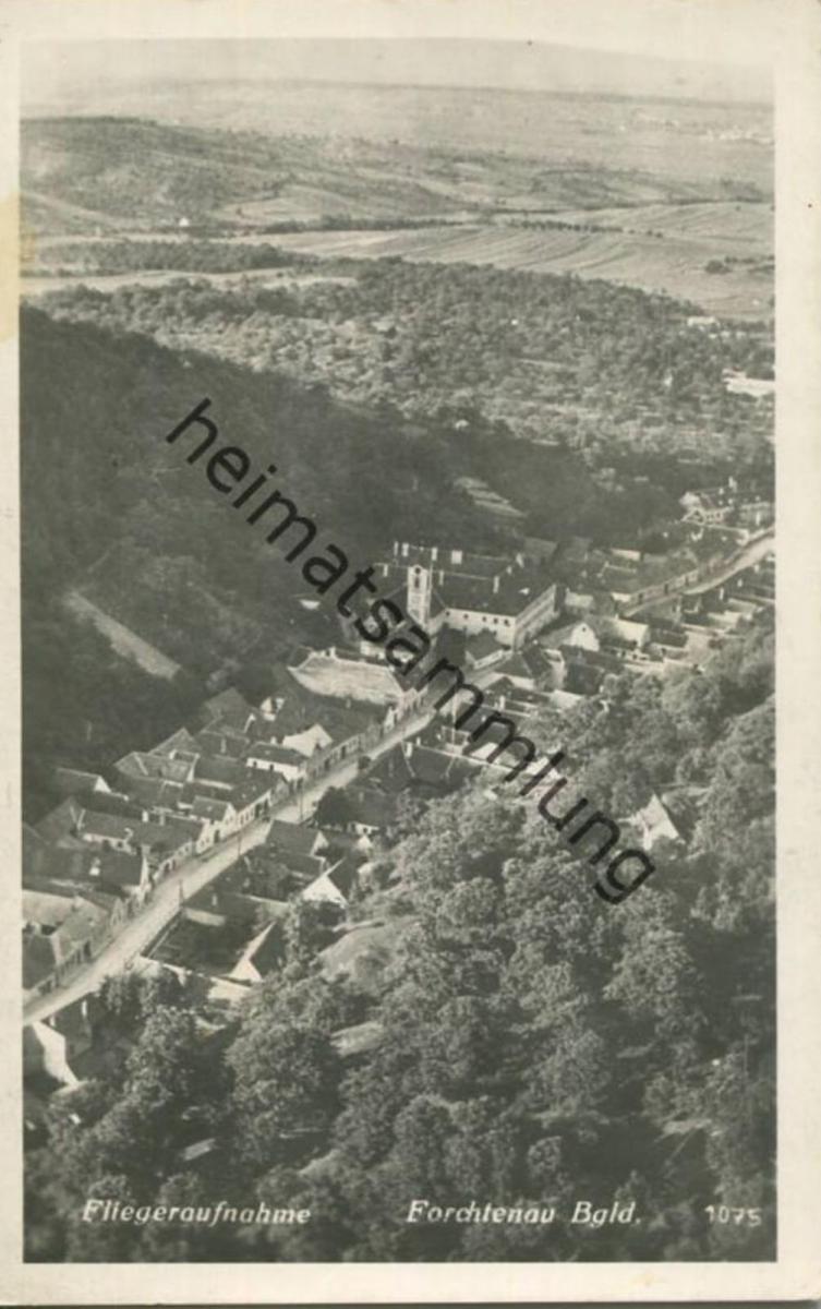 Forchtenau - Fliegeraufnahme - Foto-AK - Verlag Hans Weihs & Co. Wien