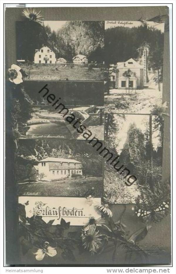 Erlaufboden - Stauwerk Stierwaschboden - Gasthof I. Buda - Zentrale Foto-AK 0