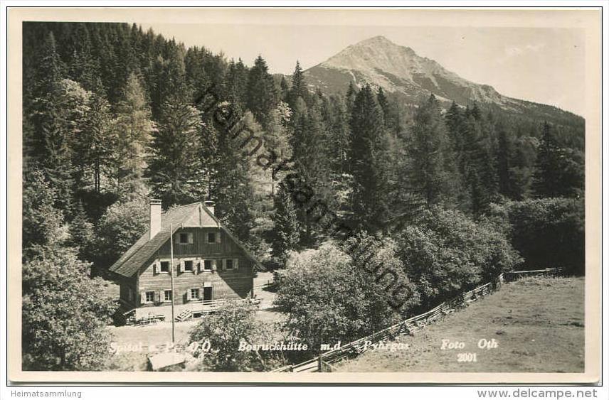 Spital am Pyhrn - Bosruckhütte - Pyhrgas - Foto-AK - Verlag Oth. Hochreiter Windischgarsten - Rückseite beschrieben 1953