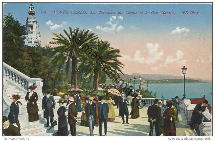 Monaco - Monte Carlo - Les Terrasses du Casino et le Cap Martin