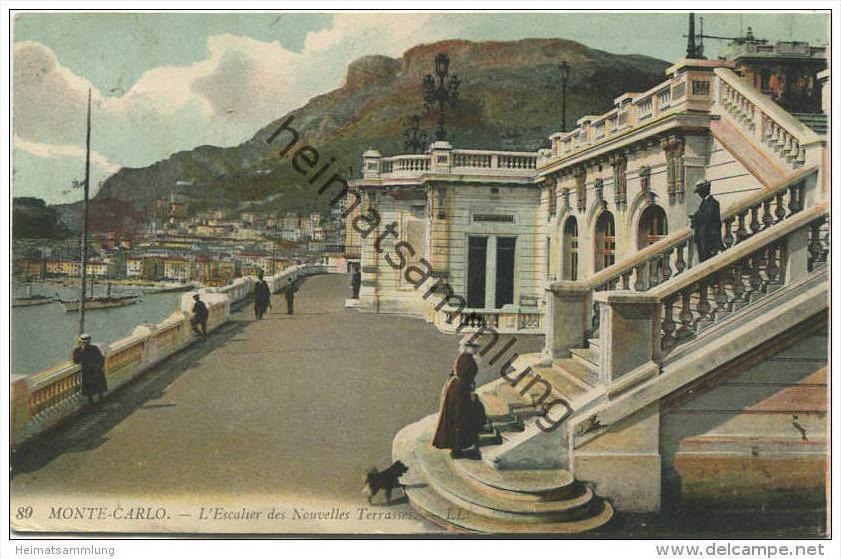 Monaco - Monte Carlo - L Escalier des Nouvelles Terrasses  gel. 1911