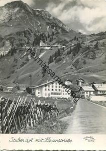 Stuben am Arlberg mit Flexenstrasse - Foto-AK Grossformat - Verlag Foto Risch-Lau Bregenz