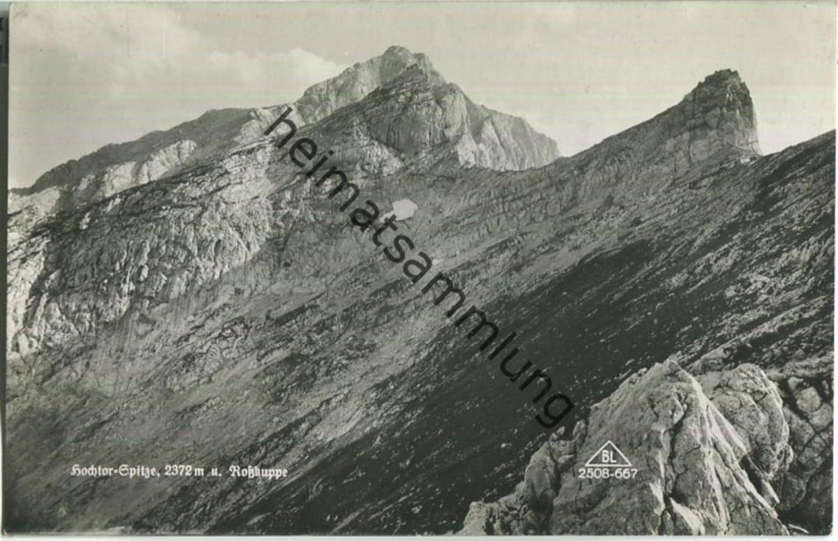 Hochtor-Spitze - Rosskuppe - Foto-Ansichtskarte - Verlag Brüder Lenz Dobl bei Graz