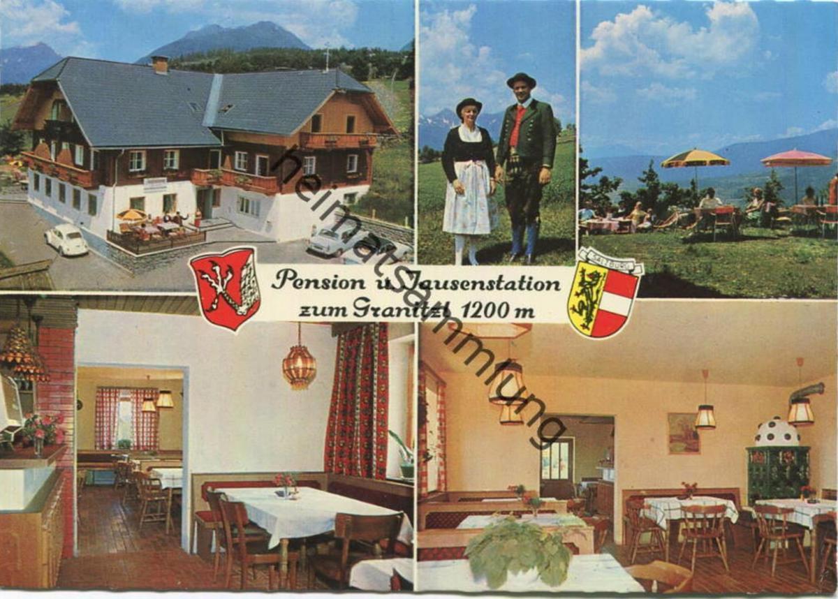 Mariapfarr - Pension und Jausenstation P.B. Lechner - AK Grossformat - Verlag F. Hruby Zeltweg