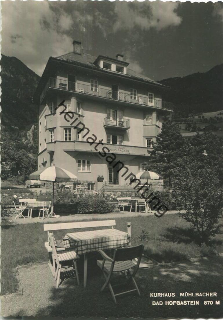 Bad Hofgastein - Kurhaus Mühlbacher - Foto ohne AK-Einteilung