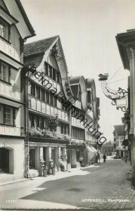 Appenzell - Hauptgasse - Foto-AK - Verlag Foto-Gross St. Gallen