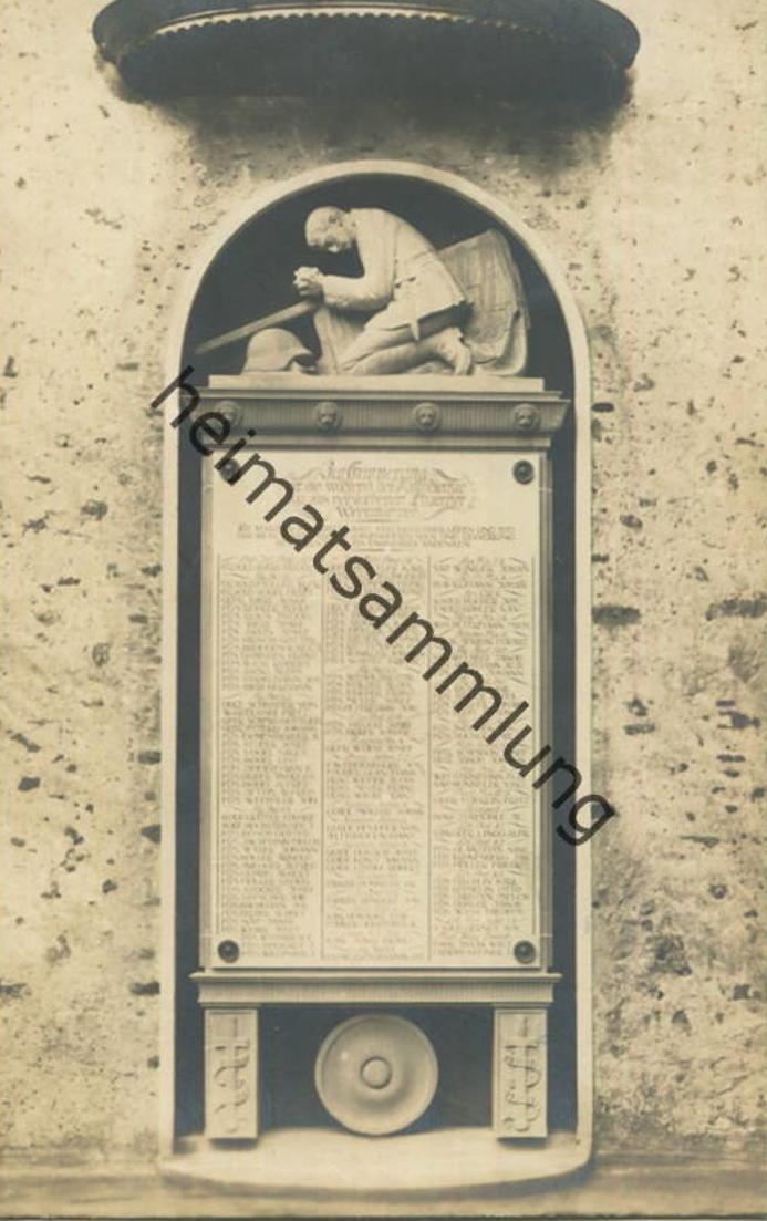 Sempach - Soldaten Denkmal - Foto-AK - Verlag E. Goetz Luzern