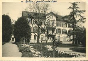 Riehen - Mutterhaus - Foto-AK-Grossformat - gel. 1953