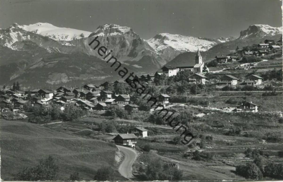 Vercorin - Foto-AK - Verlag Klopfenstein Adelboden gel. 1967