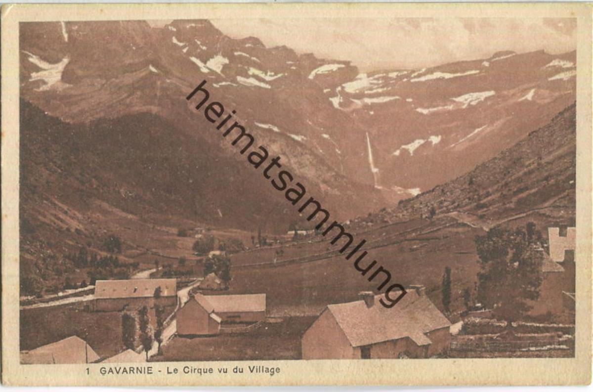 Gavarnie - Le Cirque vu du Village - Edition Caussieu Gavarnie