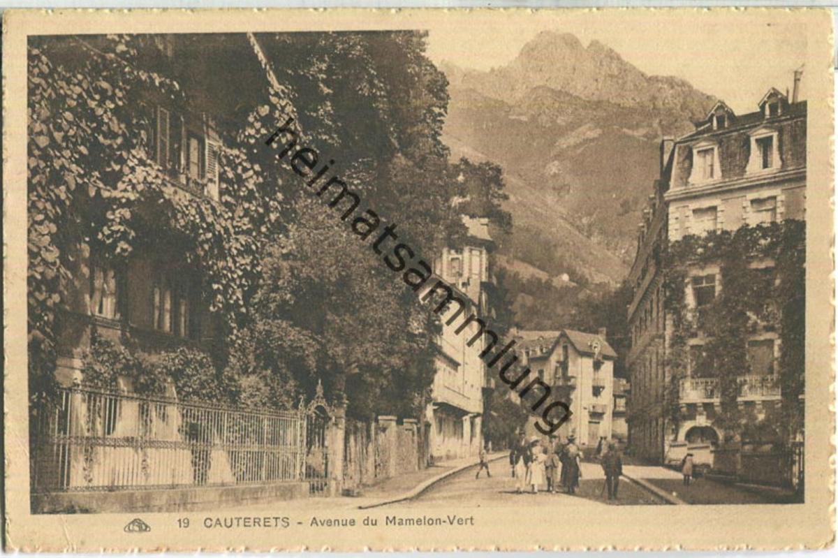 Cauterets - Avenue du Mamelon-Vert - Edition Cie Alsacienne des Arts Photomecaniques Strasbourg