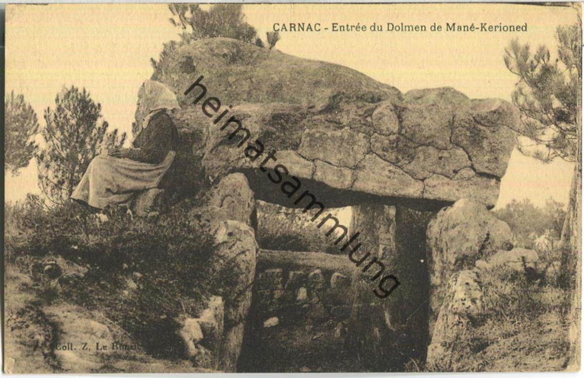 Carnac - Entree du Dolmen de Mane-Kerioned - Edition Le Rouzic