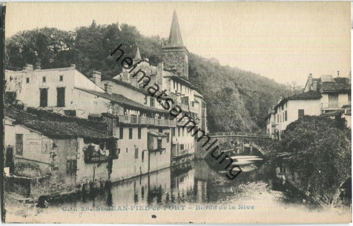St. Jean-Pied-de-Port - Bords de la Nive - Carrache editeur Pau