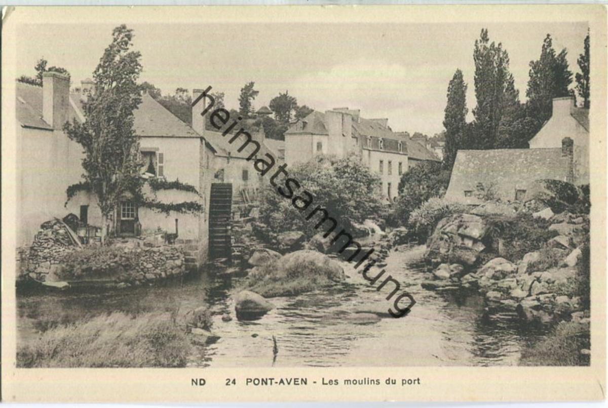 Pont-Aven - Les moulins du port - Edition Cie des Potomecaniques Strasbourg-Schiltigheim
