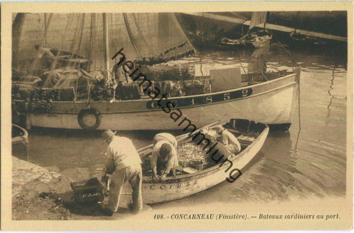 Concarneau - Bateaux sardiniers au port - Edition G. Artaud Nantes