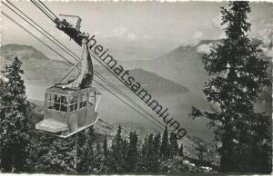Schweiz Luftseilbahn - Beckenried - Foto-AK - Verlag Engelberger Stans - gel. 1959