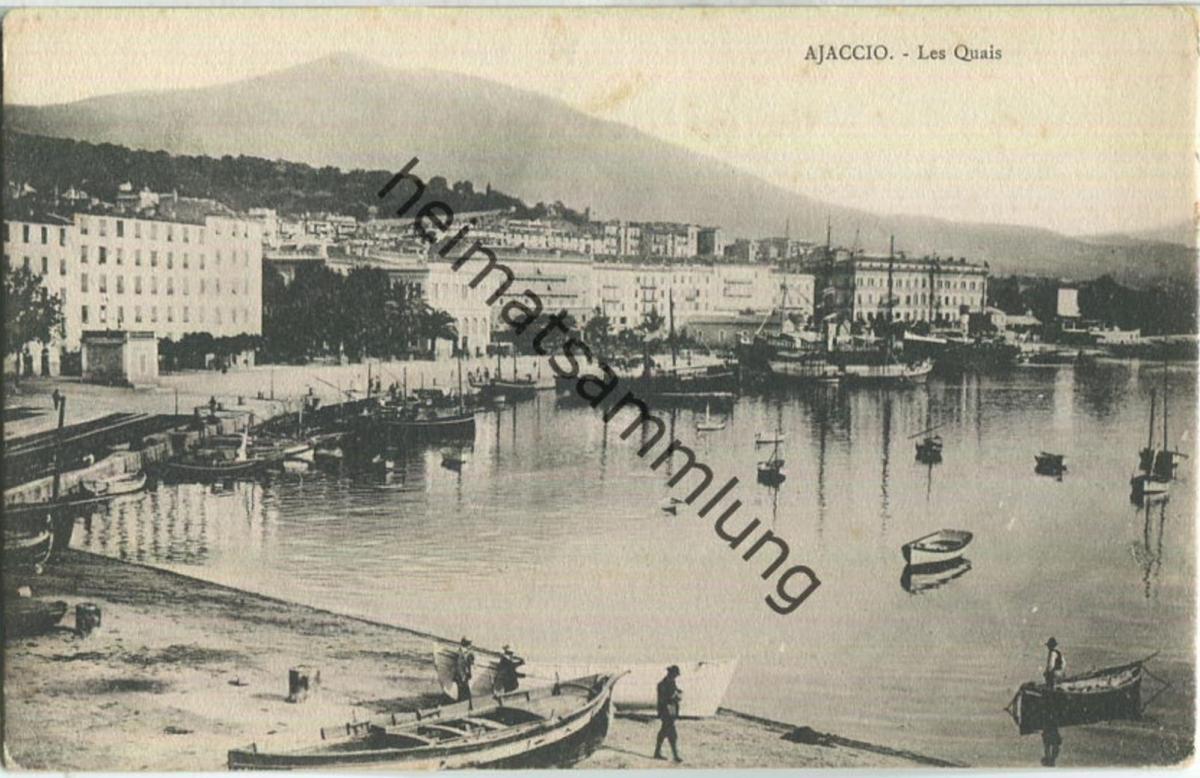 Ajaccio ca. 1900 - Les Quais - Edition J. Moretti Corte (Corse)