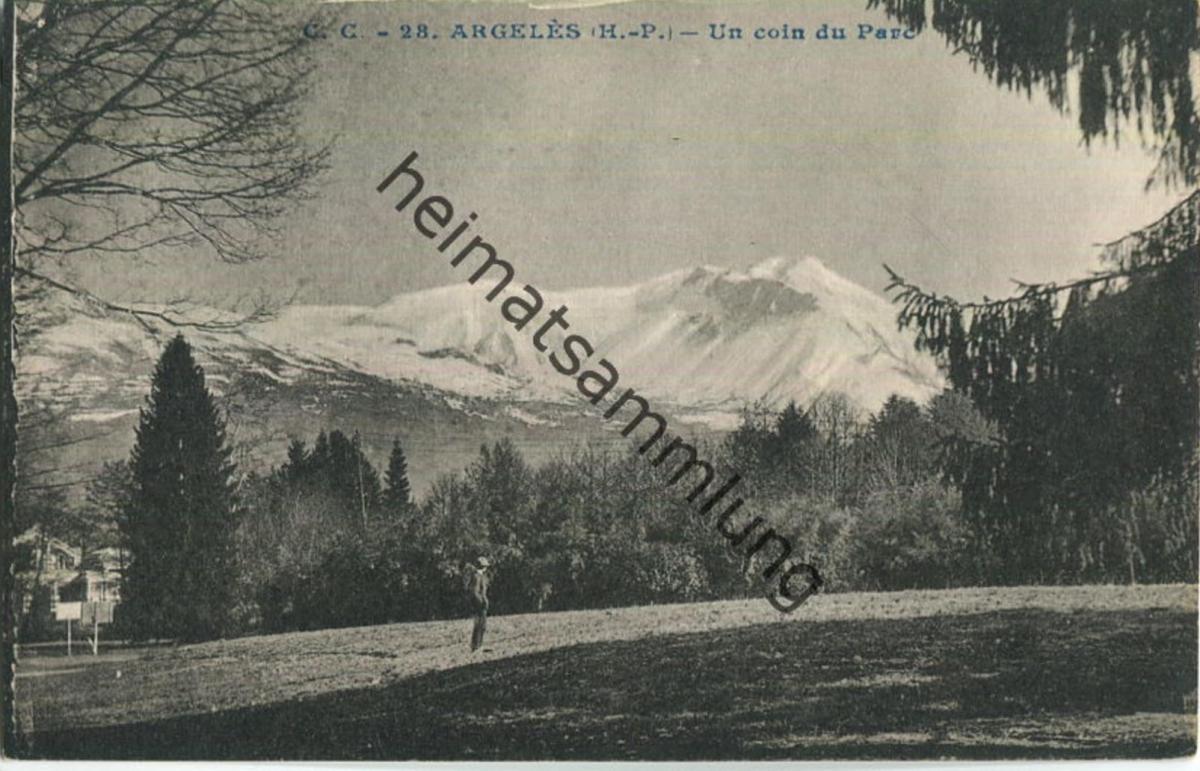 Argeles - Un coin du Parc - Carrache editeur Pau