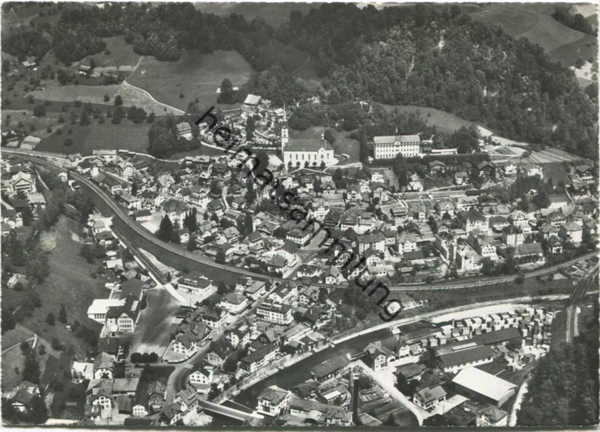 Wolhusen - Flugaufnahme - Foto-AK Grossformat - Verlag Photoglob-Wehrli Zürich gel. 1962